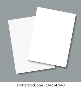 vector illustration of note sheets on grey background