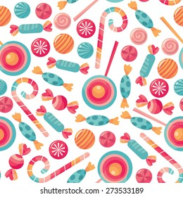 1c1f8390b784 A vector illustration of novelty print pattern in candy treats shop theme.