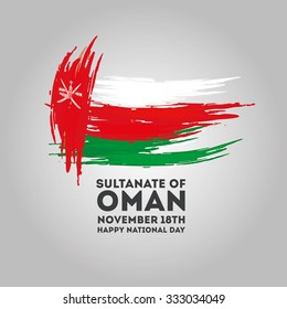 vector illustration November 18th Sultanate of Oman . National Day, celebration republic, graphic for design elements