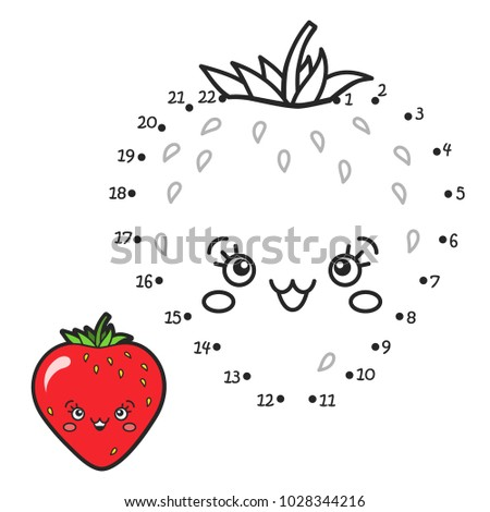 Vector Illustration Numbers Game Connect Dot Stock Vector Royalty