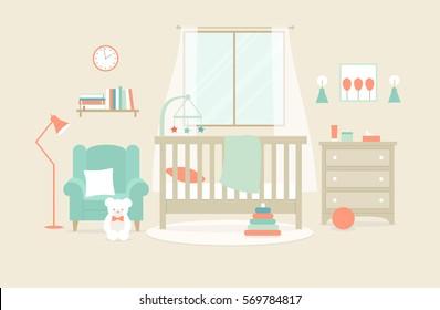Vector illustration of nursery furniture