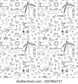 Vector illustration. Vector objects set. Summer time . Element of seamless pattern.