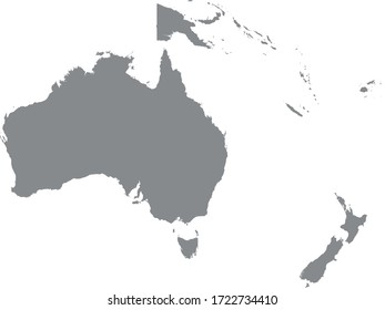 vector illustration of Oceania map