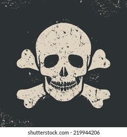 Vector illustration off skull and crossbones. Sign danger, EPS 8.