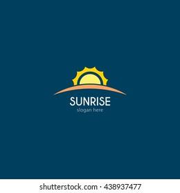 Vector illustration off sunrise logo design template. flat style design