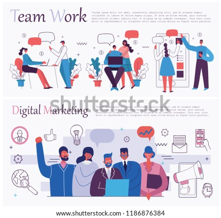 Citizen office concept Chukanova Vector Illustration Of The Office Concept Business People In The Flat Style Ecommerce Shutterstock Vector Illustration Office Concept Business People Stock Vector
