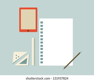 Vector Illustration of a Office Supplies