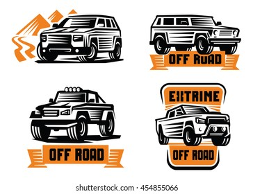 vector illustration of a off-road suv car
