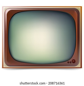 vector illustration. old TV