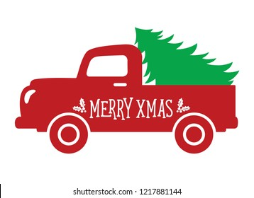 Old Truck With Christmas Tree Painting.Christmas Truck Images Stock Photos Vectors Shutterstock