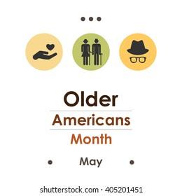 vector illustration / older americans month