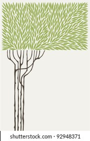 vector illustration of an olive tree