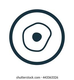 Vector illustration of omelette icon