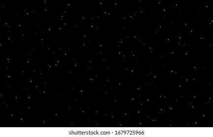 Vector illustration on black background with stars