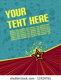 vector illustration on blue/green background ready for your own text