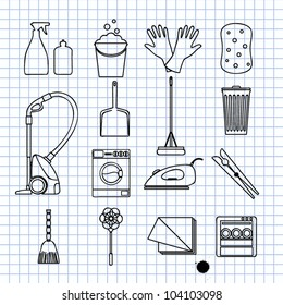 Vector illustration on cleaning