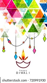 Vector illustration on the Creative Diwali Festive Background with theme of the traditional celebration of happy diwali. , Vector Illustration for Indian Festival of Lights Celebration.
