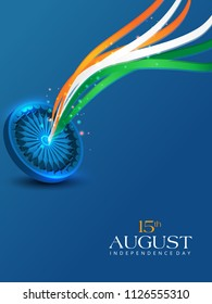 Vector illustration on Independence Day of India. 15th of August. vector design elements of the national day.Graphic icons.