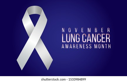 Vector illustration on Lung Cancer awareness month in November.
