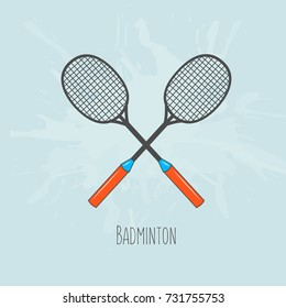 Vector illustration on the theme of Badminton poster. Banner, template, badminton card. Invitation poster for  competition Badminton .