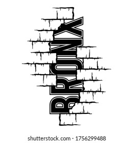 Vector illustration on the theme of bronx. Vintage design. typography, design t-shirt and print