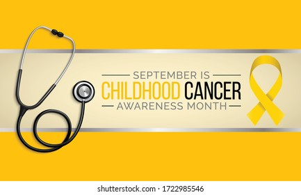 Vector illustration on the theme of Childhood Cancer awareness month observed each year during September.