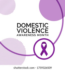 Vector illustration on the theme of Domestic Violence awareness month observed each year during October.