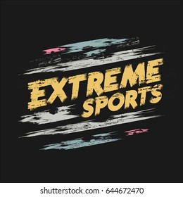 Vector illustration on the theme of extreme sports. Grunge background.  Typography, t-shirt graphics, poster, banner, print, flyer, postcard