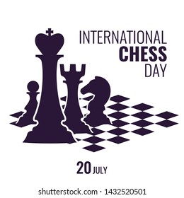 Vector Illustration on the theme International Chess Day.