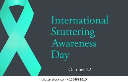 Vector illustration on the theme of International Stuttering day on October 22nd
