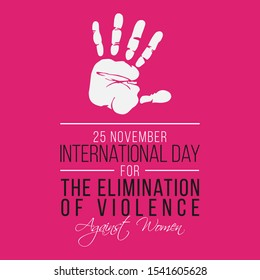 Vector illustration on the theme of International day for the elimination of violence against Women on November 25th.