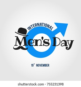 Vector illustration on the theme International Men's Day. For a poster or banner and greeting card.