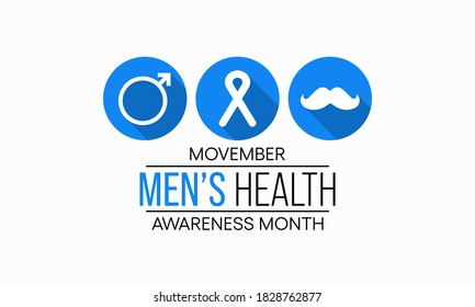 Vector illustration on the theme of Men's health awareness month (Movember) observed each year during November.