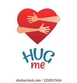 Vector illustration on the theme of National Hug Day.