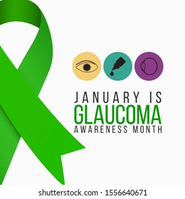 Vector illustration on the theme of National Glaucoma awareness month of January.