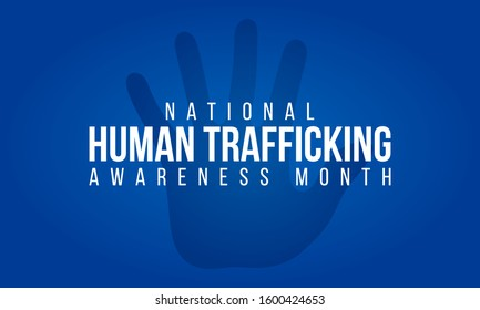 Vector illustration on the theme of National Human trafficking Awareness Month of January