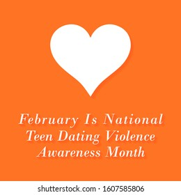 Vector illustration on the theme of National Teen Dating Violence awareness month of February
