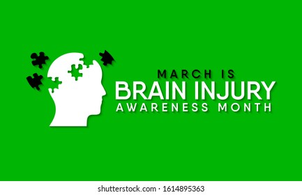 Vector illustration on the theme of National Traumatic Brain Injury awareness month of March.