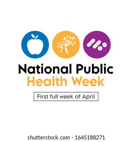 Vector illustration on the theme of National Public Health Week. observed in First full week of April.