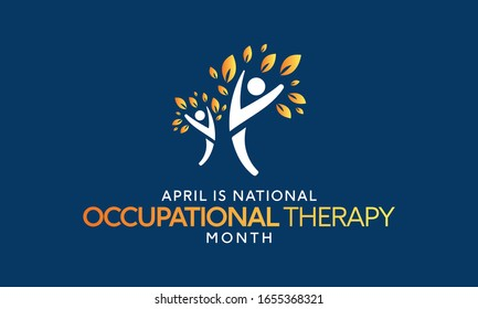 Vector illustration on the theme of National Occupational therapy awareness Month of April.