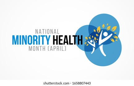 Vector illustration on the theme of National Minority health awareness month of April.