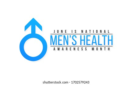 Vector illustration on the theme of National Men's Health awareness month observed each year during June.