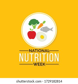 Vector illustration on the theme of national Nutrition week observed each year from September 1st to 7th.