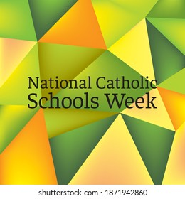 Vector illustration on the theme of National Catholic Schools Week