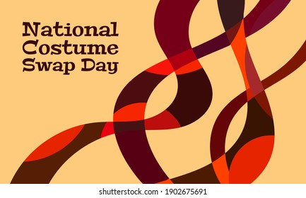 Vector illustration on the theme of National Costume Swap Day