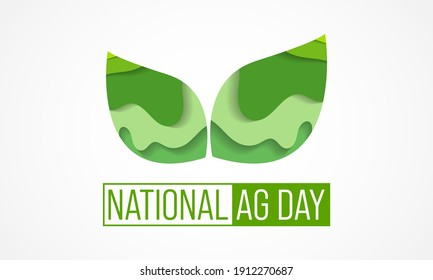 Vector illustration on the theme of National Agriculture day observed each year during March.