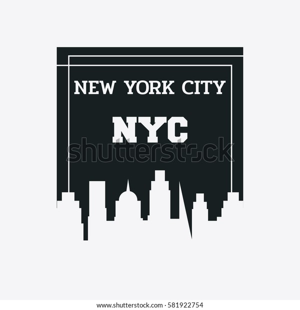 Vector illustration on the theme in New York City, Typography, t-shirt graphics, poster, print, banner, flyer, postcard