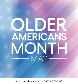 Vector illustration on the theme of Older Americans Month (OAM) observed each year in May. it is to encourage and celebrate countless contributions that older adults make to our communities.