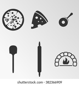Vector illustration on the theme pizza