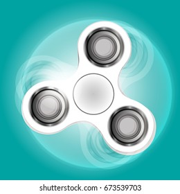 vector illustration on the theme '' rotation white spinner ''.Anti nervousness, stress, psychosomatic disorder. Realistic creative web design.Techniques: gradient,drawn, lines. Classical common form.